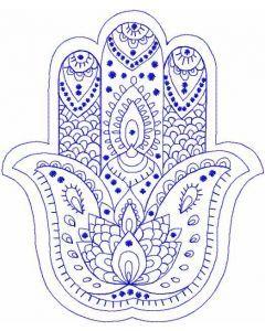 Palm Hamsa embroidery design