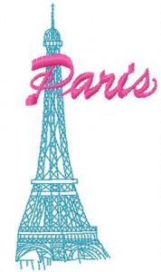 Paris Eiffel tower embroidery design