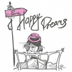 Paris Happy dreams 3 embroidery design