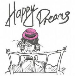 Paris Happy dreams 4 embroidery design