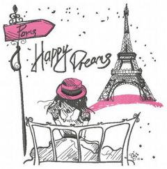 Paris Happy dreams embroidery design
