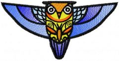 Patterned owl free embroidery design