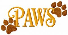 Paws embroidery design