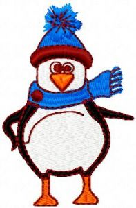 Little Penguin embroidery design