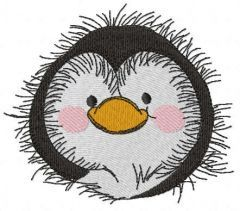 Penguin head free embroidery design