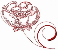 Peony 3 embroidery design