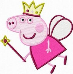 Peppa Pig Angel embroidery design