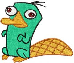 Perry the Platypus embroidery design
