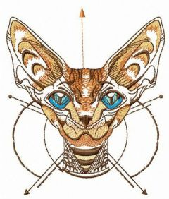 Peterbald muzzle embroidery design