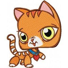 Petshop Cat embroidery design