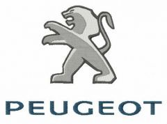 Peugeot logo embroidery design