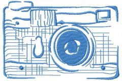 Photo camera embroidery design