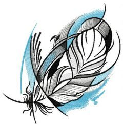 Pigeon feather embroidery design