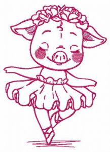 Piggy's performance embroidery design