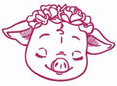 Pig's greams embroidery design