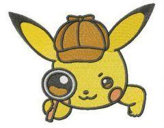 Pikachu Holmes embroidery design