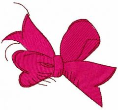 Pink bow 4 embroidery design