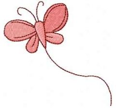 Pink butterfly 4 embroidery design