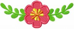 Pink flower 25 embroidery design