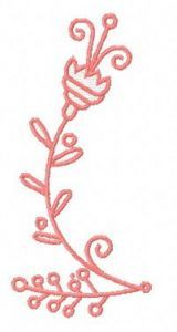 Pink flower 3 embroidery design