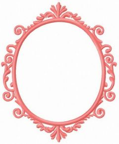 Pink frame embroidery design