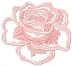 Light pink rose 5 embroidery design