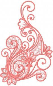 Pink decoration 5 embroidery design