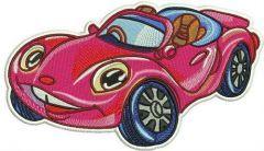 Pink Porsche embroidery design