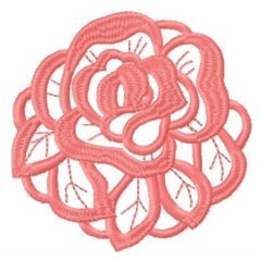 Pink rose 2 embroidery design