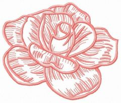 Pink rose flower embroidery design