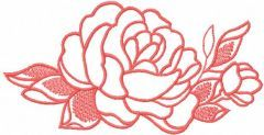 Rose pink 9 embroidery design