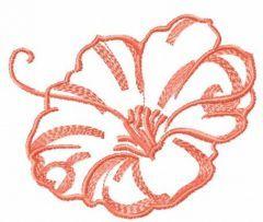 Pink flower sketch 2 embroidery design