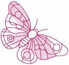 Small pink butterfly embroidery design