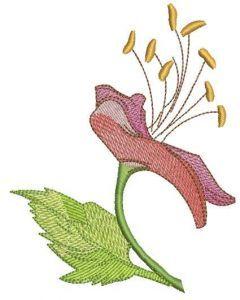 Pink wild flower embroidery design