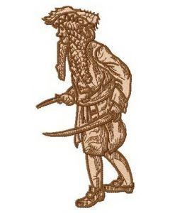 Pirate attacks embroidery design