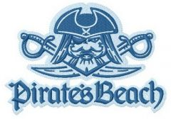 Pirate's beach Surfing team 3 embroidery design