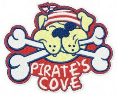 Pirate's cove machine embroidery design