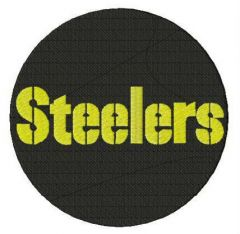 Pittsburgh Steelers round logo embroidery design