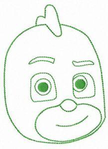 PJ Masks Gekko embroidery design