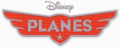 Disney Planes logo embroidery design