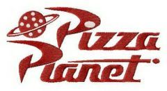 Pizza Planet alternative logo embroidery design
