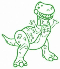 Plastic Rex embroidery design