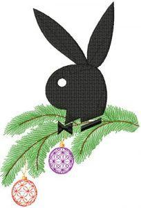 Christmas Playboy Logo embroidery design