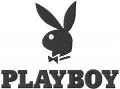 Playboy logo embroidery design 3