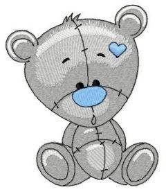 Plush bear 2 embroidery design