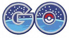 Pokemon Go logo 4 embroidery design