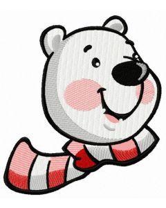 Polar bear face 2 embroidery design