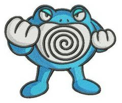 Poliwrath embroidery design