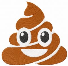 Poop Emoji free embroidery design