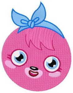 Poppet badge embroidery design